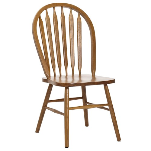 Intercon Classic Oak Plain Arrow Back Dining Side Chair