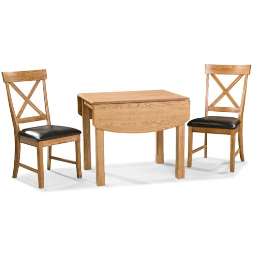 Intercon Family Dining 3 Piece Dining Set with X-Back Chairs