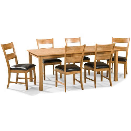 Intercon Family Dining 7 Piece Dining Set with Ladder Back Chairs