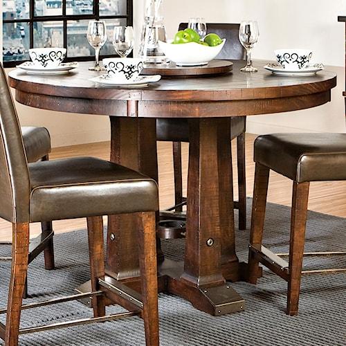 Intercon Hayden Round Gathering Table with Pedestal Base