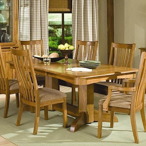 Intercon Highland Park  Trestle Dining Table