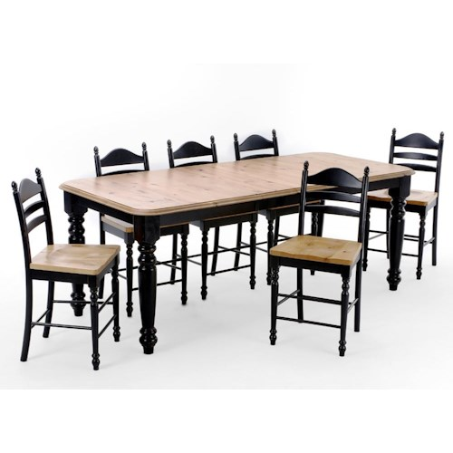 Intercon Hillside Village  Four Leg Counter Height Dining Table