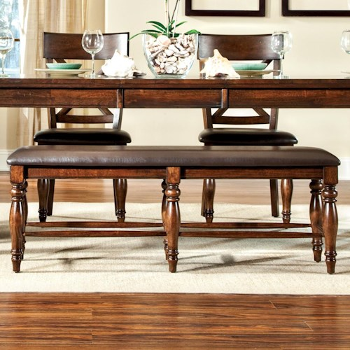 Intercon Kingston  Backless Dining Bench with Upholstered Seat