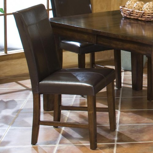 Belfort Select Cabin Creek Parson's Side Chair with Upholsered Seat and Front-and-Back Seat Back