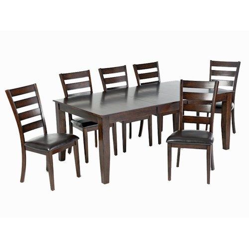 Intercon Kona 7-Piece Dining Set with Table and Chairs