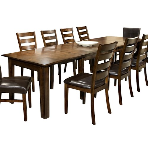 Belfort Select Cabin Creek Dining Table with Three 22-Inch Leaves