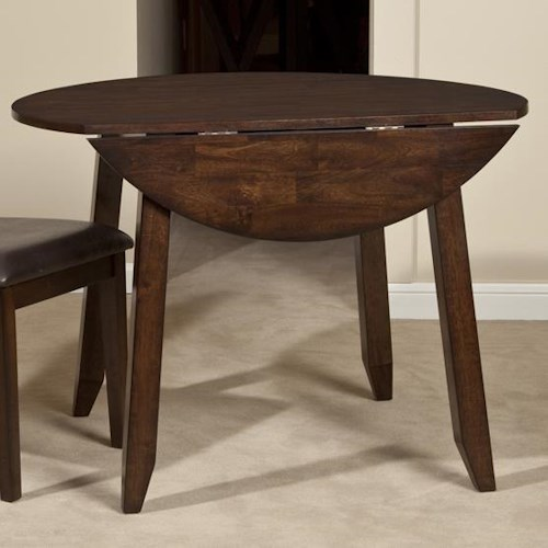 Belfort Select Cabin Creek Wooden Round Top Drop Leaf Dining Table