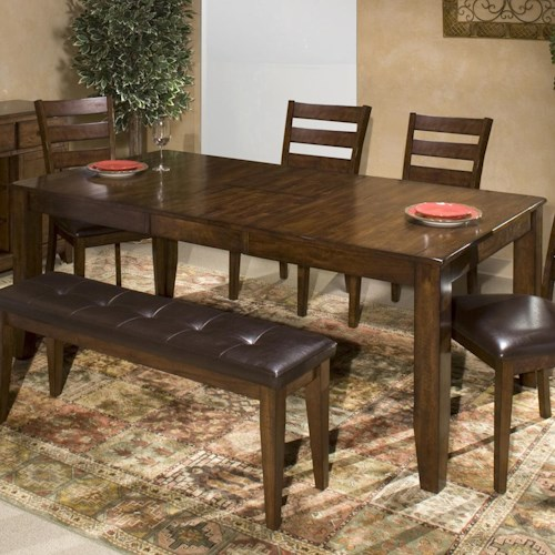 Belfort Select Cabin Creek Solid Mango Wood Dining Table with Butterfly Leaf