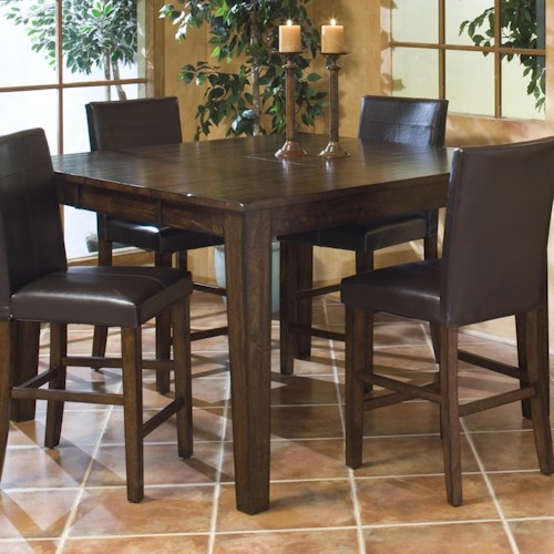 Intercon Kona Solid Mango Gathering Table with Butterfly Leaf