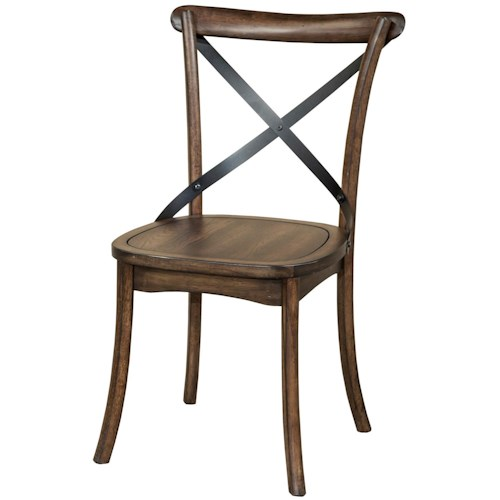 Intercon Lindsay X-Back Dining Side Chair