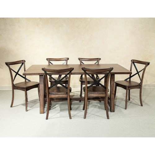 Intercon Lindsay 7 Piece Dining Table and Chair Set
