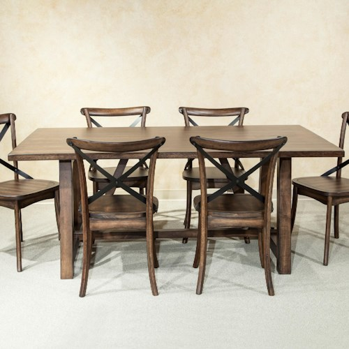 Intercon Lindsay Rectangle Trestle Dining Table
