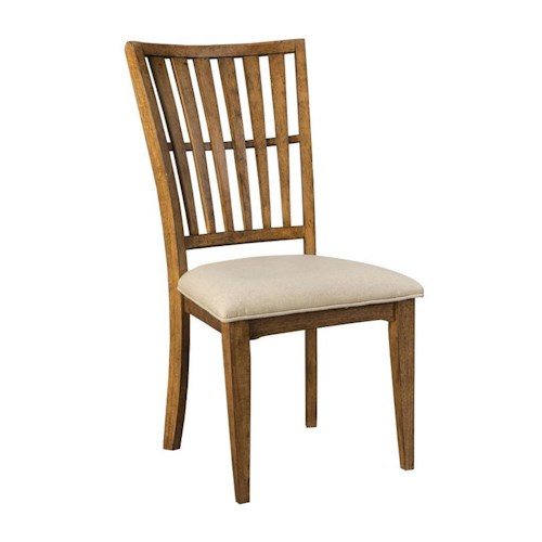 Belfort Select Bluemont Slat Back Side Chair with Cushion