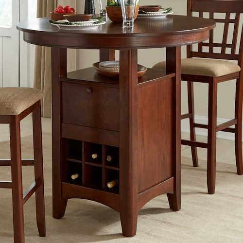 Intercon Mission Casuals Pedestal Pub Table