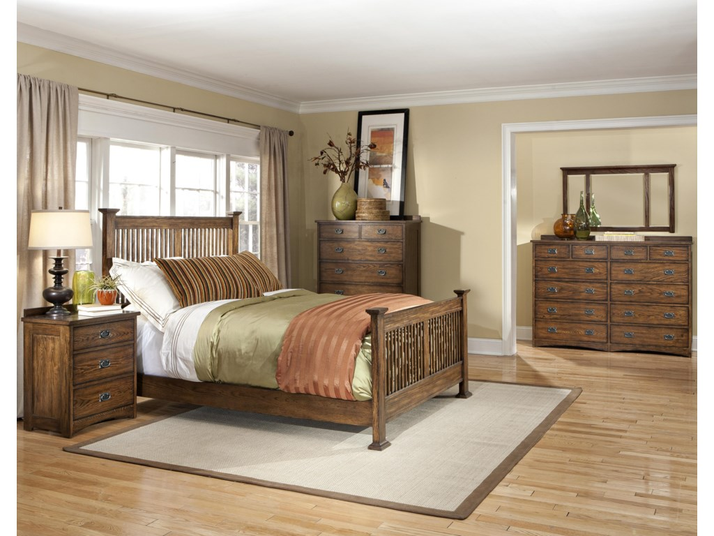 Shown with Nightstand, Rake Bed, Chest of Drawers, and Twelves Drawer Dresser