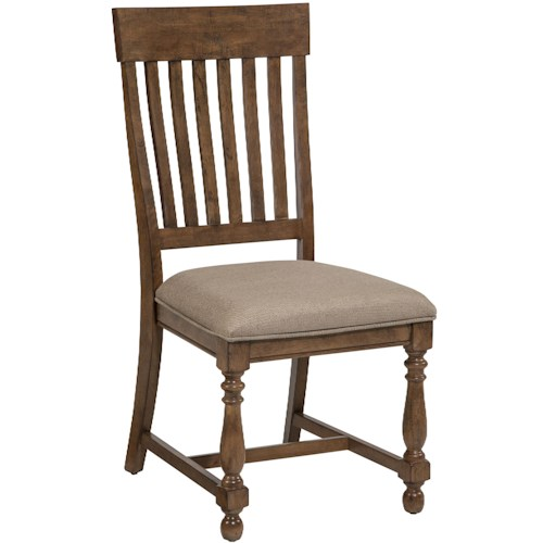 Belfort Select Loudoun Crossing Slat back Side Chair with Cushion