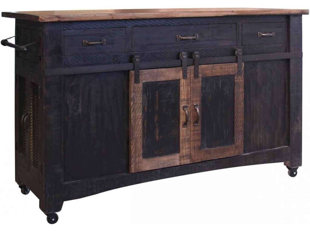 Kitchen Furniture Direct International Furniture Direct Pueblo Black Kitchen Island Great