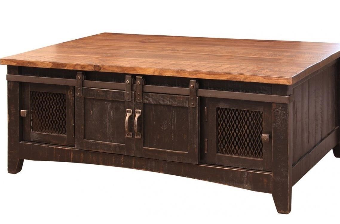International Furniture Direct Pueblo Rustic Cocktail