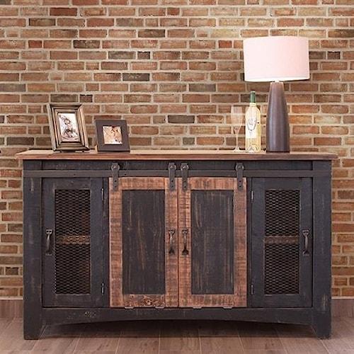 International Furniture Direct Pueblo Black 60
