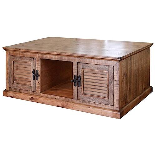 International Furniture Direct Havana Rustic Cocktail Table