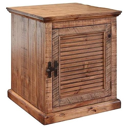 International Furniture Direct Havana Rustic End Table