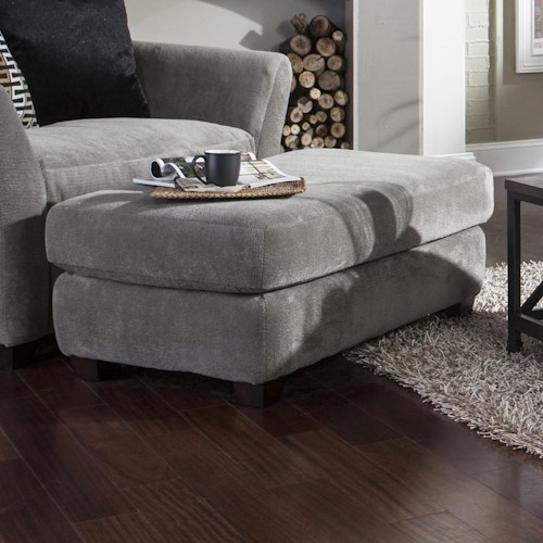 Jackson Furniture Brighton Ottoman with Casual Style