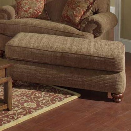 Jackson Furniture 4347 Belmont Rectangular Ottoman with Bun Feet