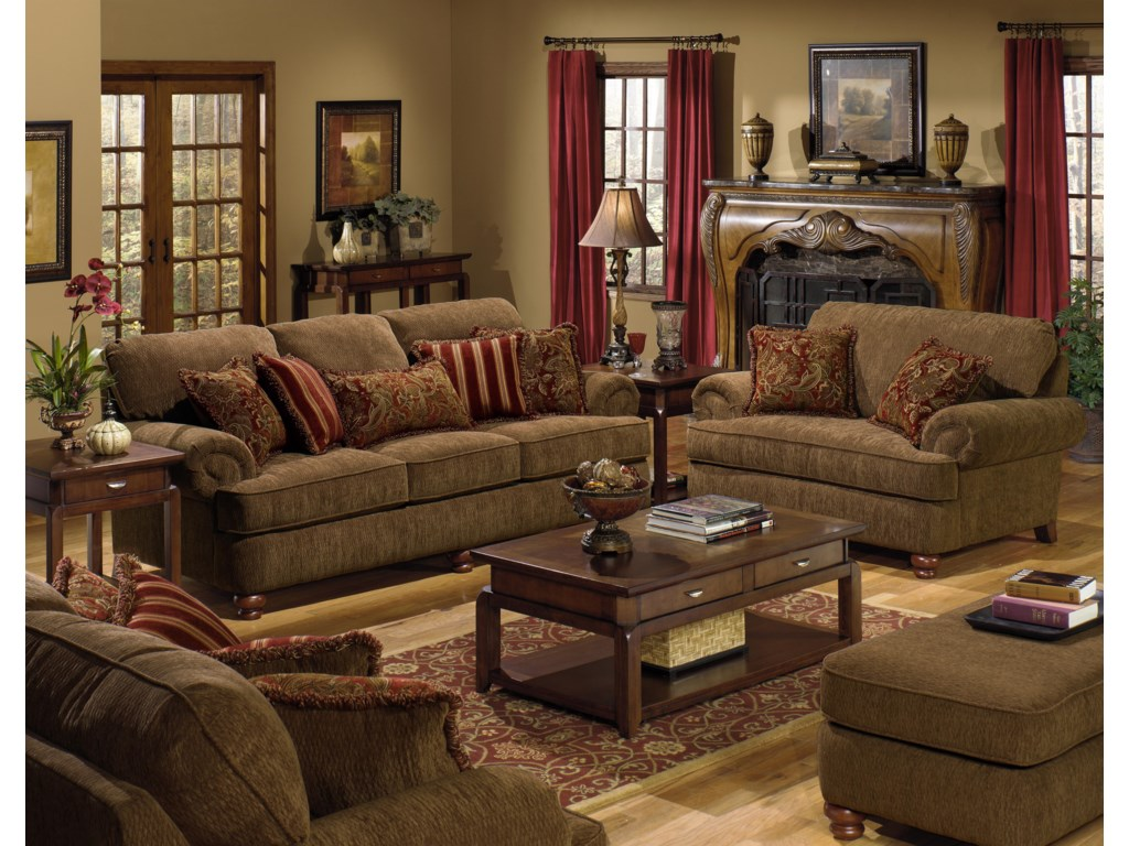 Shown with Loveseat, Sofa, and Chair and a Half