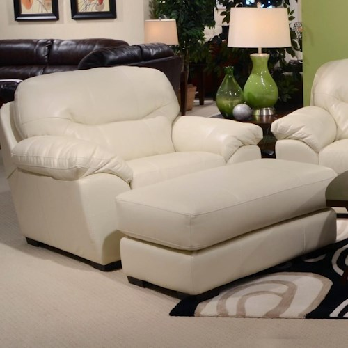 Jackson Furniture Grant Chair and a Half and Ottoman Set for Living Rooms and Family Rooms