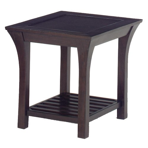 Jackson Furniture 813  Decorative End Table in Mission Furniture Style