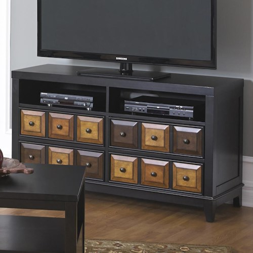 Jackson Furniture 857 Tables TV Console or Wine Shelf with Multi Color Finish