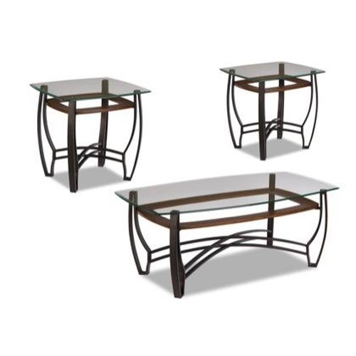 Jackson Furniture 867 3 Pack Occasional Cocktail Table and End Table Set