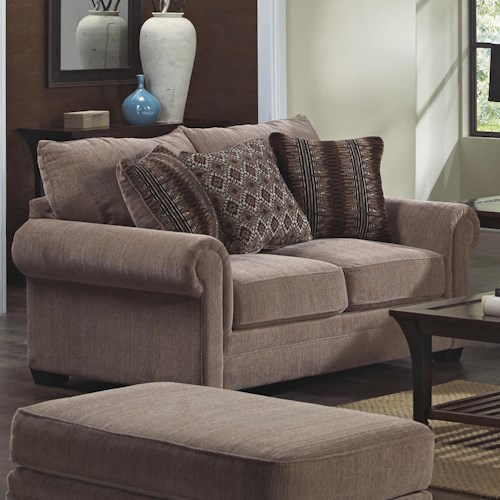Jackson Furniture Anniston Rolled Arm Loveseat