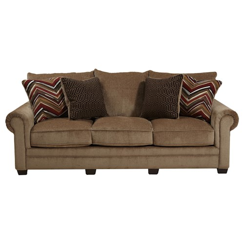 Jackson Furniture Anniston Rolled Arm Sofa