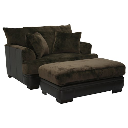 Jackson Furniture Barkley  Chair and a Half and Ottoman Set