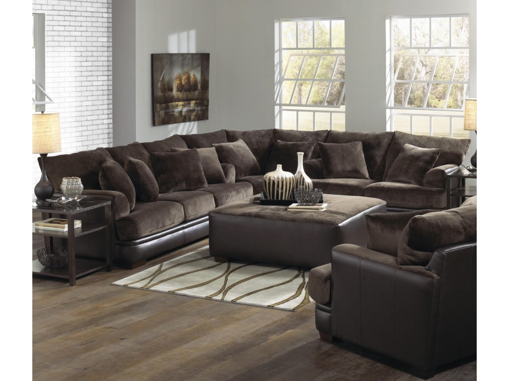 Shown as Modular Component in Coordinating Sectional Sofa. Coordinating Chair and a Half and Cocktail Ottoman Also Shown.