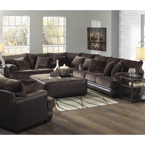 Jackson Furniture Barkley  Large L-Shaped Sectional Sofa with Left Side Loveseat