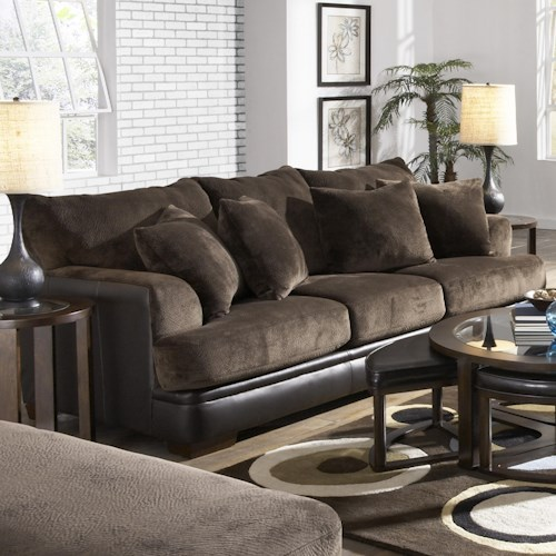 Jackson Furniture Barkley  Contemporary Sofa with Unique Shark Fin Arms