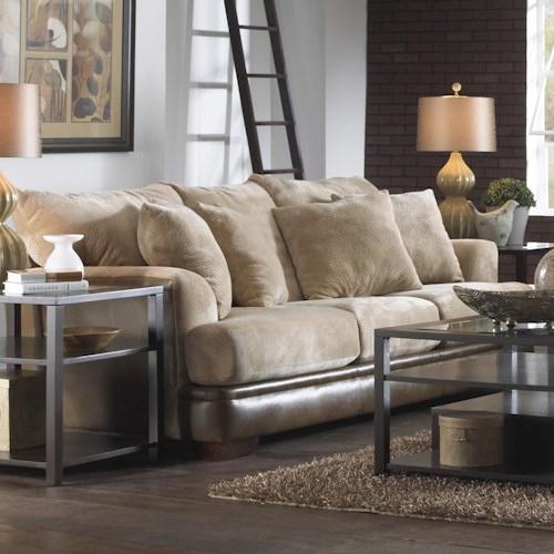 Jackson Furniture Barkley  Contemporary Sofa with Unique Shark Fin Arms
