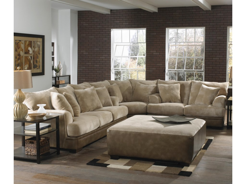 Shown as Modular Component in Coordinating Sectional Sofa. Cocktail Ottoman Also Shown.