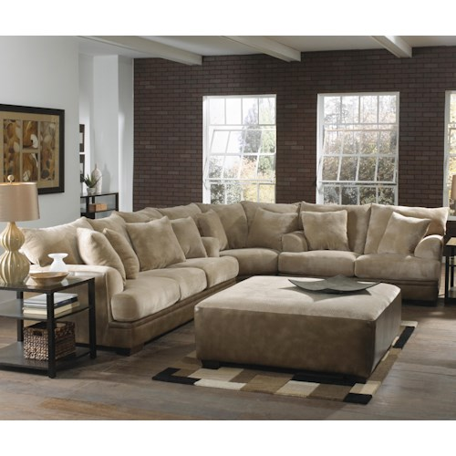 Jackson Furniture Barkley  Large L-Shaped Sectional Sofa with Right Side Loveseat