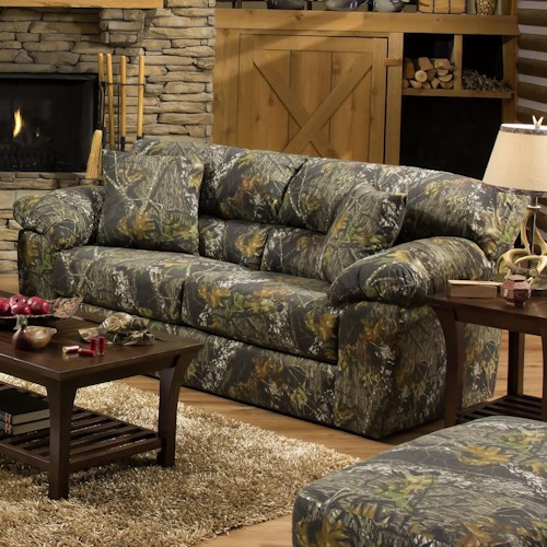 Jackson Furniture Big Game Camouflage Two Seat Sleeper Sofa