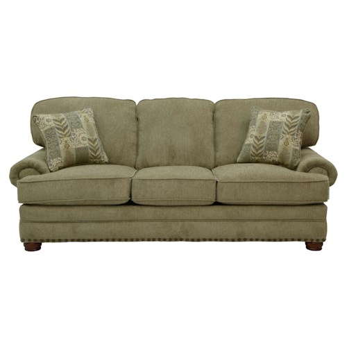 Jackson Furniture Braddock Sofa Sleeper with Individually Driven Nail Heads