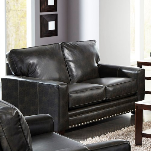 Jackson Furniture Elmsford Contemporary Love Seat with Track Arms