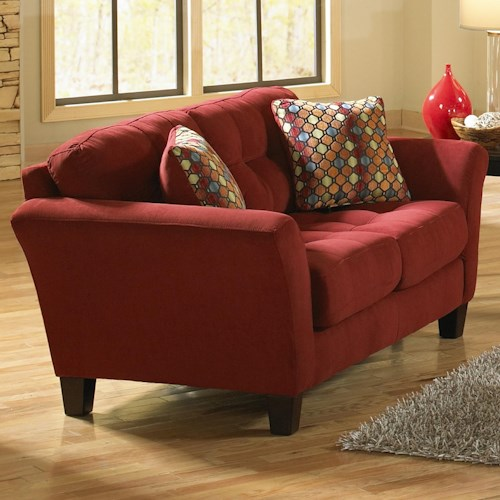 Jackson Furniture Halle Loveseat with 2 Seats and Tufted Back Cushions