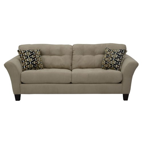 Jackson Furniture Halle Sofa with 2 Seats and Tufted Back Cushions