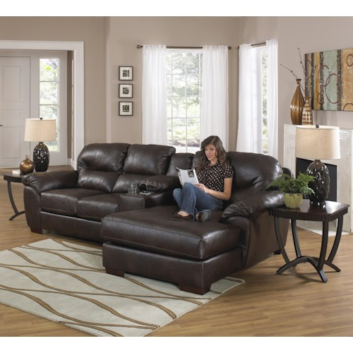 Jackson Furniture Lawson  Three Seat Sectional Sofa with Console and Chaise