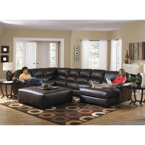 Jackson Furniture Lawson  Extra Large Seven Seat Sectional