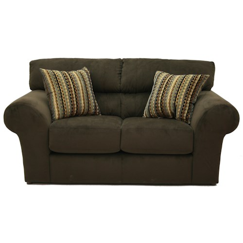 Jackson Furniture Mesa  Comfortable and Casual Rounded Arm Loveseat