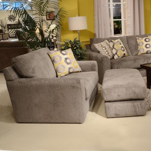 Jackson Furniture Sutton  Chair and a Half and Ottoman with Casual Style